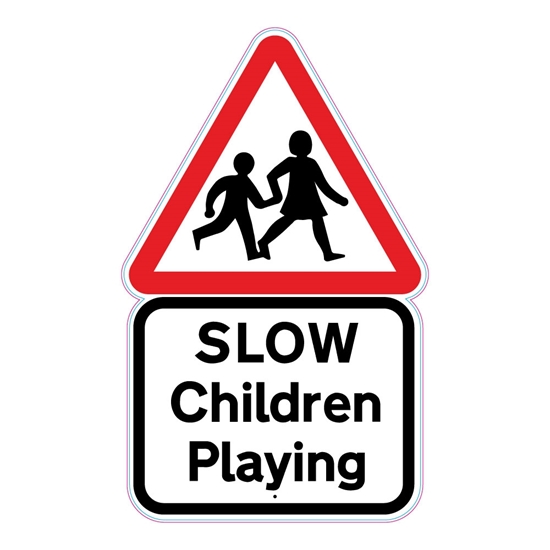 Picture of Slow Children Playing Sign