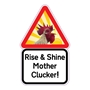 Picture of Funny Chicken Sign , Cockerel Hen Cock Chicken Coop Sign, Mother Clucker Sign