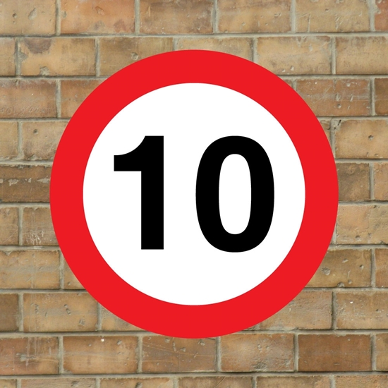Picture of 10 mph Speed Sign