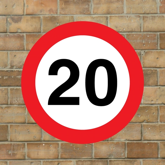 Picture of 20 mph Speed Sign