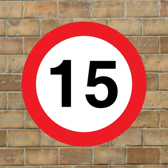 Picture of 15 mph Speed Sign