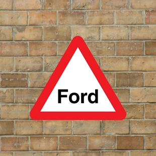 Picture of Ford Warning Sign