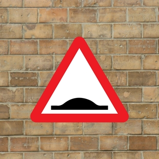 Picture of Speed Bump Warning Sign