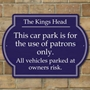 Picture of Patrons Only Car Park Sign - Landscape