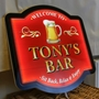 Picture of Illuminated LED Pub Sign with pint logo