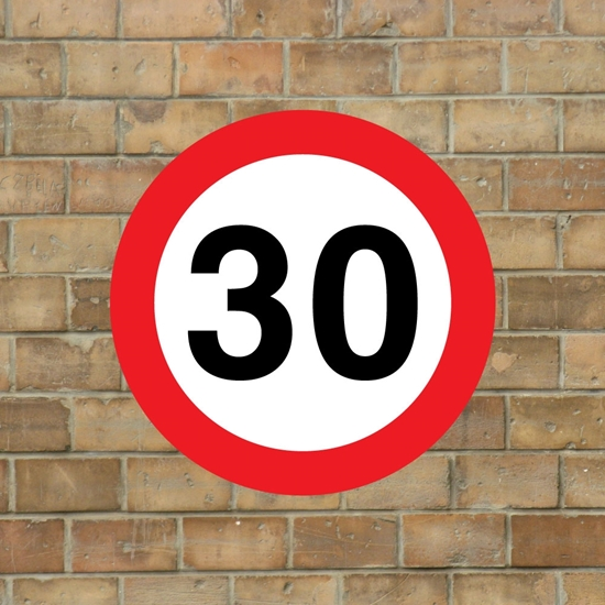 Picture of 30 mph Speed Sign