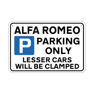 Picture of ALFA ROMEO Joke Parking sign