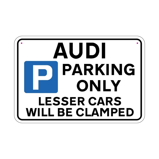 Picture of AUDI Joke Parking sign