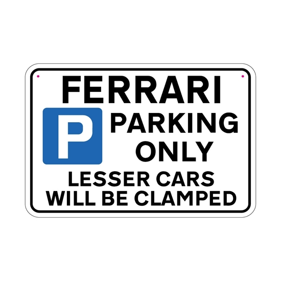 Picture of FERRARI Joke Parking sign