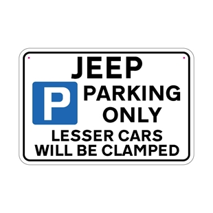 Picture of JEEP Joke Parking sign