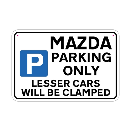 Picture of MAZDA Joke Parking sign