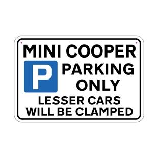 Picture of MINI COOPER Joke Parking sign