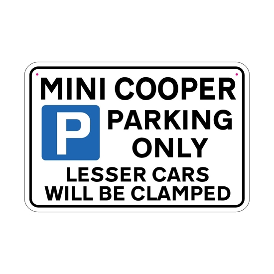 Picture of MINI COOPER Joke Parking sign