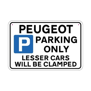 Picture of PEUGEOT Joke Parking sign