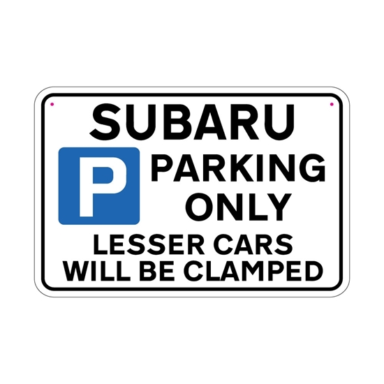 Picture of SUBARU Joke Parking sign