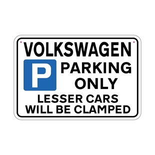 Picture of VOLKSWAGEN Joke Parking sign