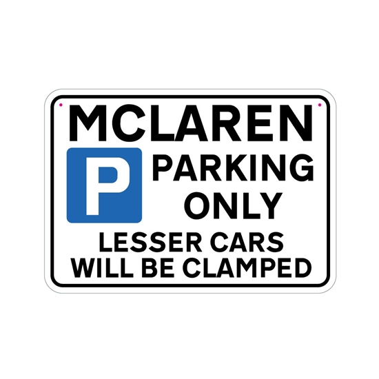 Picture of MCLAREN Joke Parking sign