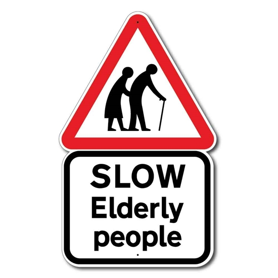 Picture of Elderly People Road Sign