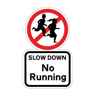 Picture of NO RUNNING SIGN