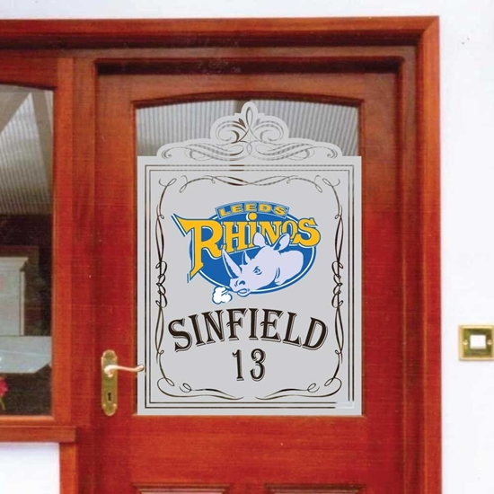 Picture of Etched effect Pub Window Sign Panel with logo