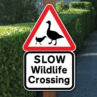 Picture of SLOW WILDLIFE CROSSING SIGN