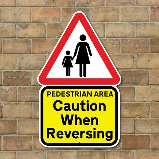Picture of CAUTION WHEN REVERSING