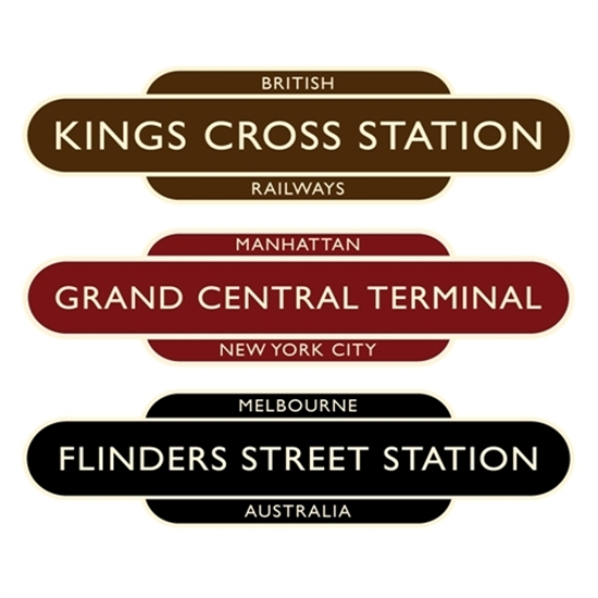 Picture of Classic Ivory  Railway Station Totem Sign- Half Size