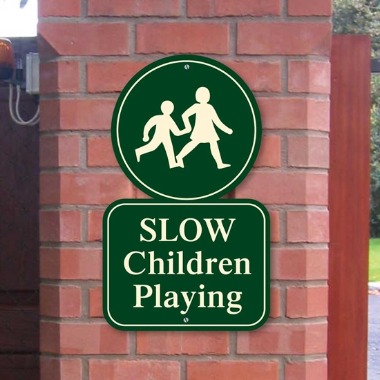 Picture of Children Playing Safety Sign