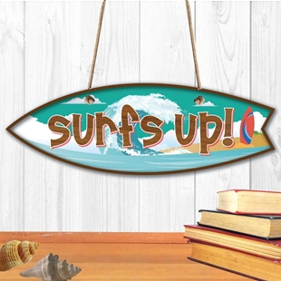 Picture of SURFS UP SIGN TIKI BAR SIGN