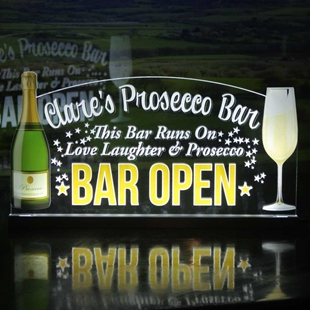 Picture of LED Light up Prosecco Bar Sign
