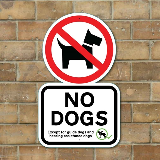 Picture of NO DOGS SIGN