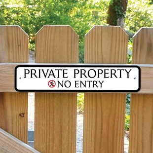 Picture of PRIVATE PROPERTY Sign