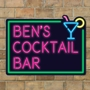 Picture of Personalised Neon Effect Sign with Cocktail Glass