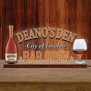 Picture of Brandy Bar Custom Home Bar Light Up LED Sign