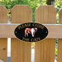 Picture of Please Close The Gate Sign, BRITISH BULL DOG