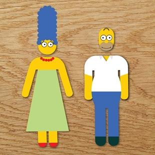 Picture of Homer & Marge Bathroom Symbol