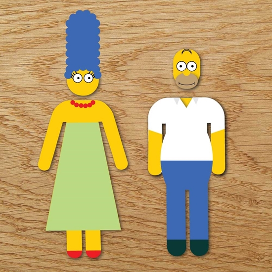 Picture of Homer & Marge Bathroom Symbol