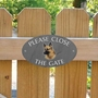 Picture of Please Close The Gate Sign, German Shepherd