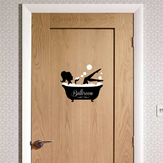 Jaf Graphics Acrylic Bathroom Door Sign