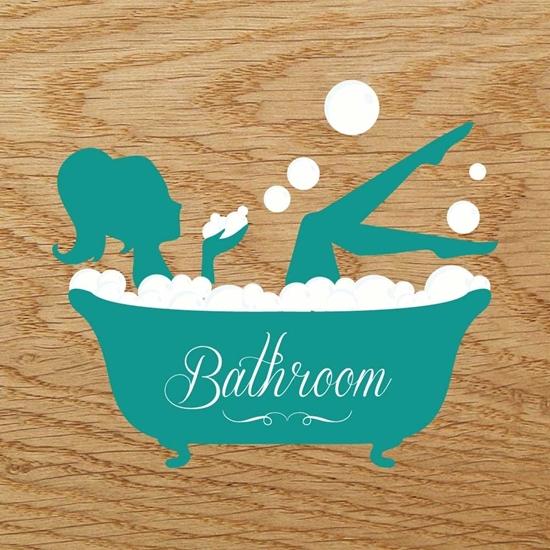 Picture of Acrylic Bathroom Door Sign