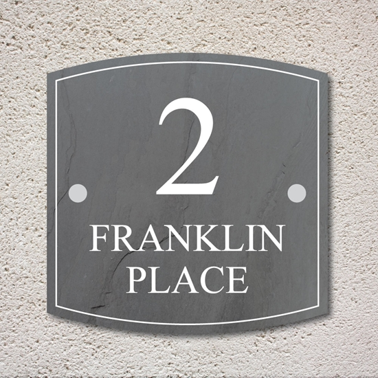 Picture of Slate Effect Modern House Sign