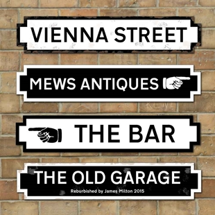Picture of Personalised Old Fashioned Street Road Sign