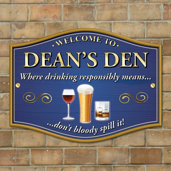 Picture of Where drink responsibly means... Don't bloody spill it!