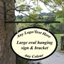 Picture of Large Oval Hanging Advertising Sign & Bracket