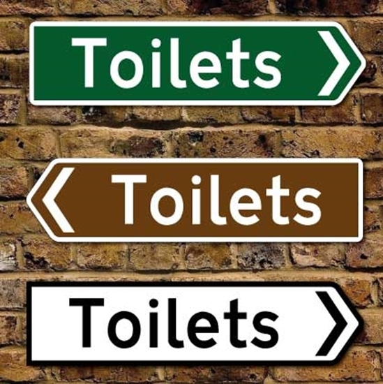 Picture of Toilet Pointing Sign