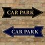 Picture of Car Park Pub Arrow Sign
