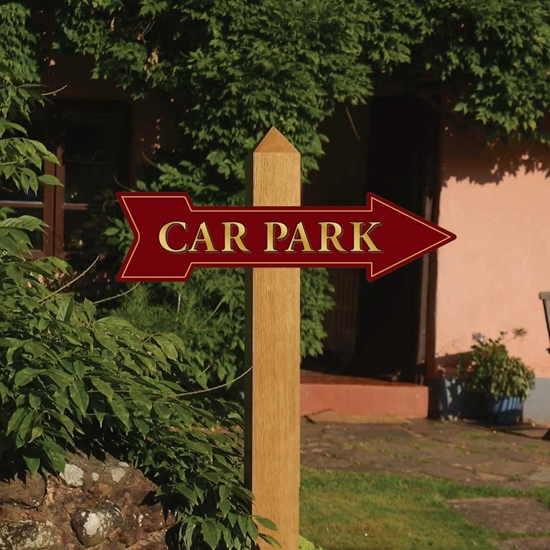 Picture of Car Park Pub Arrow Sign