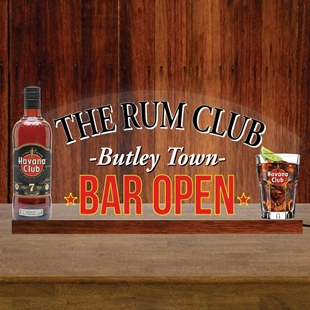 Picture of LED Light-up Rum Bar Sign