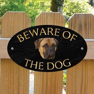 Picture of Bullmastiff Beware of The Dog Sign