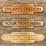 Picture of Gold Effect Classic Railway Station Totem Sign